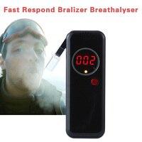 Ad6000ns recarregável respiração alcohol tester portátil display lcd bafômetro profissão exatidão bafômetro 6 pçs bocal