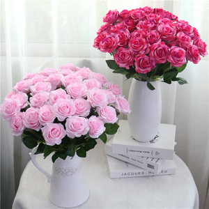 Image 5 - 25pcs/lot New Artificial Flowers Rose Peony Flower Home Decoration Wedding Bridal Bouquet Flower High Quality 9 Colors