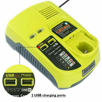 3A 12V-18V Lithium-Ion and Ni-Mh/Ni-Cd Replacement Charger for Ryobi ONE+ P104 P105 P107 P108 P117 BCL1418 Rechargeable Battery power tool battery 18v ni cd ni mh 5000mah rechargeable for hitachi drill eb1820 eb1814 eb1826hl eb1830hl 322437 battery