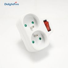 16A France Socket Plug Adapter With Switch EU Power Strip Socket Electronic Socket Home Surge Protector EU Extension Socket CE