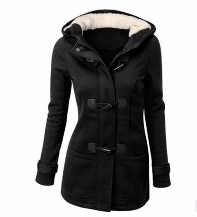 Hooded Winter Parka Plus Size Women Thick Girl Snow Coat Cotton Jacket Fashion Long Overcoat Street Female Solid Ladies Top S-85 image