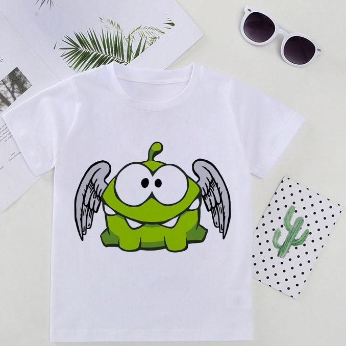 Приключения, летняя детская футболка для девочек; Модный топ для маленьких девочек; Одежда в полоску Om Nom истории для малышей футболки детск...