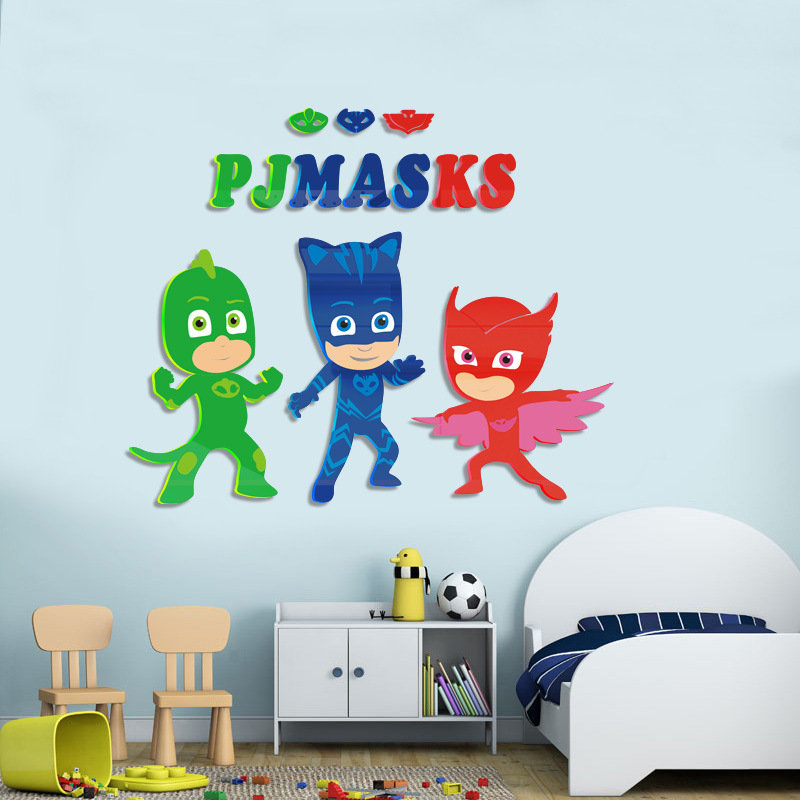 PJ Masks Children's Room Decorative Wall Stickers Bedroom Wall 3D High-quality Materials Birthday Party Best Gift For Kid