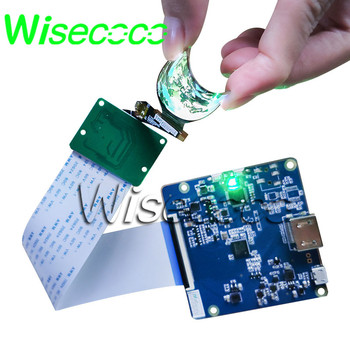 wisecoco flexible oled display 1.39 inch round circle amoled screen hdmi to mipi driver board soft Bendable for smart watch
