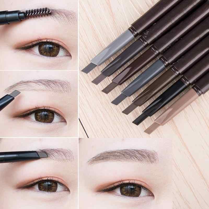 חדש 5 צבעים עיפרון גבות טבעי עמיד למים מסתובב אוטומטי אייליינר העין מצח עיפרון עם מברשת יופי קוסמטי כלי TSLM2