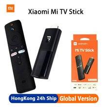 الإصدار العالمي من شاومي Mi TV Stick أندرويد TV 9.0 رباعي النواة 1080P Dolby DTS HD فك ترميز مزدوج 1GB plus 8GB Wifi مساعد جوجل