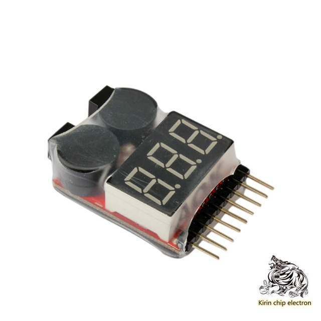 5pcs / Lot 1-8s New Two In One Electric Quantity Display / BB Low Pressure / Alarm / Electric Display / Dual Function Buzzer