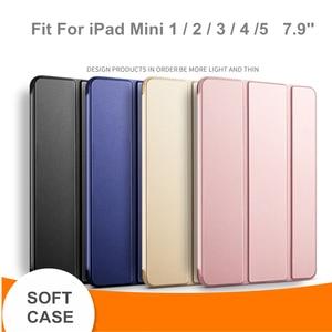 TPU Case For iPad Mini 5 Case For iPad mini 1 2 3 7.9 inch soft leather Cover for iPad Mini 2019 Case Funda Smart Cover(China)