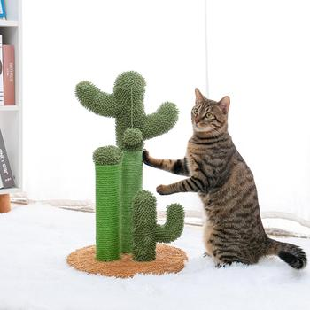 Drop Shipping Cactus Pet Cat Tree Toys with Ball Scratcher Posts for Cat Toy Protecting Furniture Fast Delivery 1