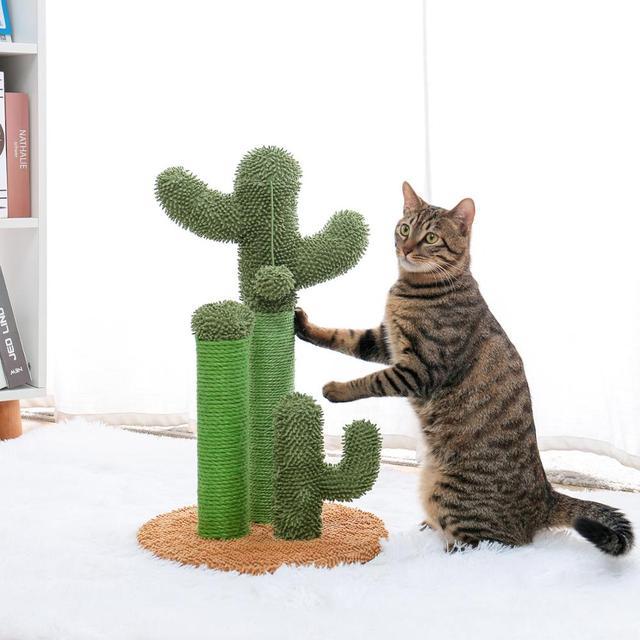 Drop Shipping Cat Cactus Tree Pet Cat Tree Toys with Ball Scratcher Posts 2