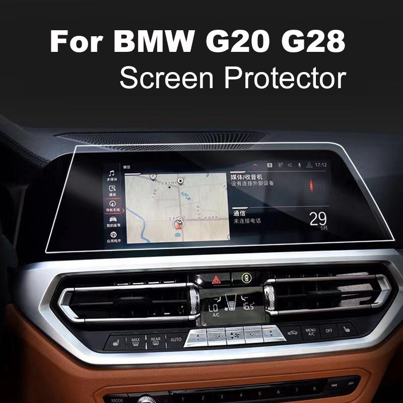 For BMW G20 G28 tempered glass navigaiton screen film car display protector TPU dashboard film 2019 2020 car accessories image