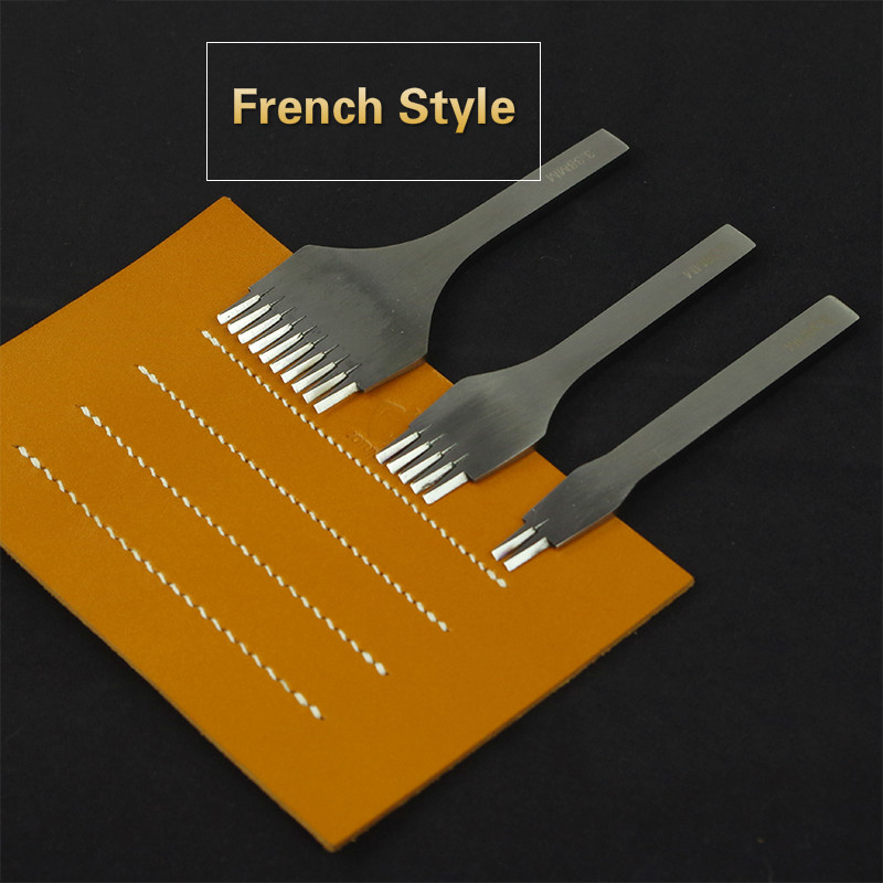 Leather Tools Treatments Crafts DIY stitching punch Pricking Iron 3.38mm 3.85mm spacing
