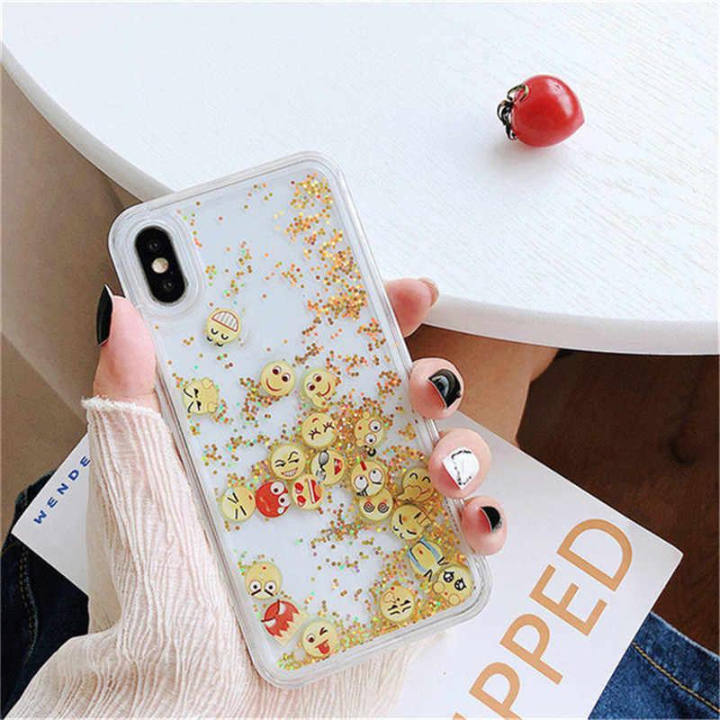2020 yeni iPhone 11PRO 11 iPhone7 8 artı X XS XR MAX sert PC şeffaf telefon kılıfı kum kapak sevimli simge