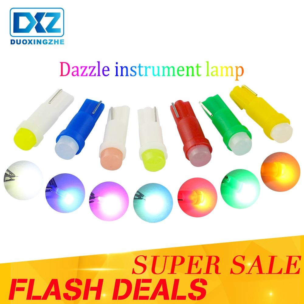 1X T5 LED Car Dashboard Light Wedge LED Light Bulb Lamp Dash Board Instrument LED 12V COB Smd Car Styling Green Ice Blue White