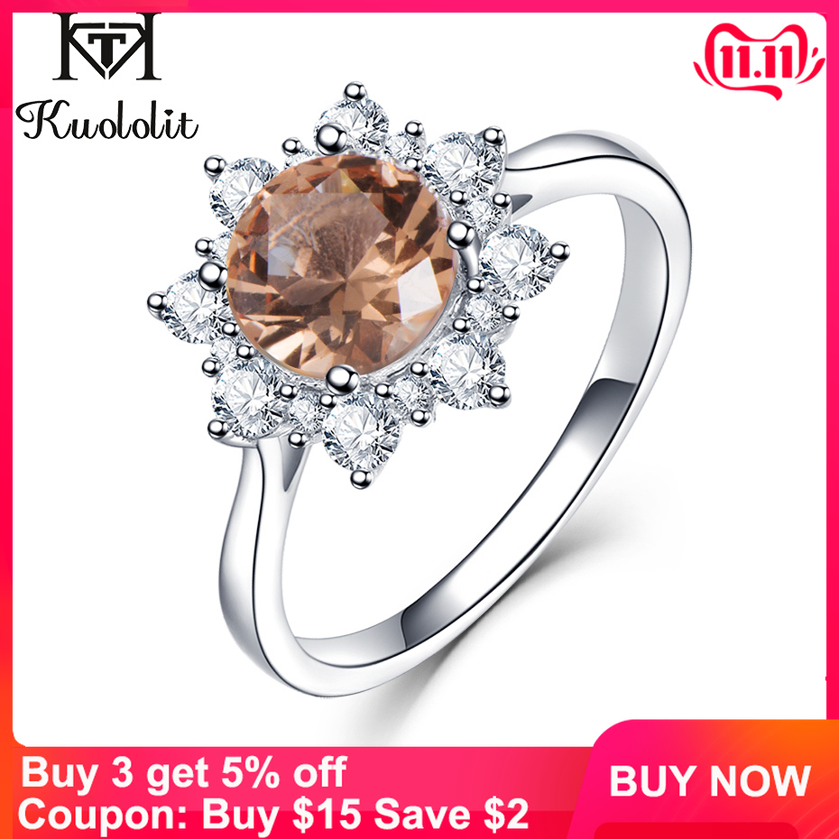 Kuololit Zultanite Gemstone Ring For Women Solid 925 Sterling Silver  Created Color Change Snow Size 10 Ring Gifts Fine Jewelry