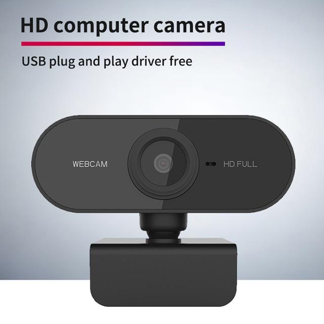 Webcam 1080P Full HD Web Camera With Microphone USB Plug Web Cam For PC Computer Mac Laptop Desktop YouTube Skype Mini Camera 2