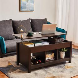 Lift Top Coffee Table with Hidden Storage Compartment & Shelf for Home Living Room, Décor, Wooden Modern Multifunctional Table