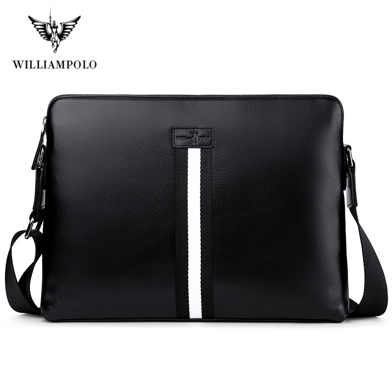 Williampolo 2020 Portable Computer Bags Notebook Handbag Man Portable Briefcase Travel Laptop Bags Macbook Handbag Solid Color
