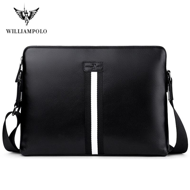 Williampolo 2020 Portable Computer Bags Notebook Handbag Man Portable Briefcase Travel Laptop Bags Macbook Handbag Solid Color