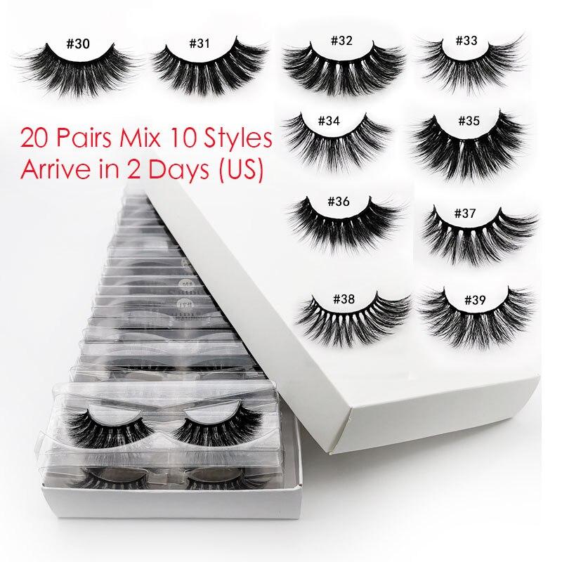 Wholesale Eyelashes Natural In-Bulk Mix 20pcs 3d