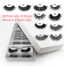 20 Pcs Wimpers In Bulk Mix 3d Mink Wimpers Groothandel Wimpers Natuurlijke Mink Wimpers Groothandel Valse Wimpers Make Lashes