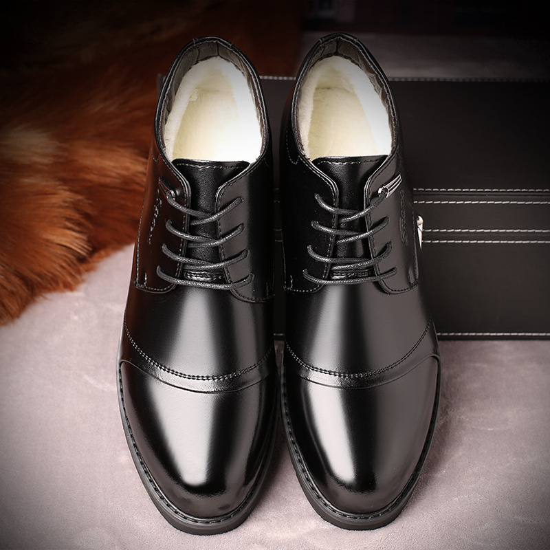 38-46 Mens Shoes Winter Mens Boots Dress Boots WARM Work Office MENS BOTAS Plus Size 12 13