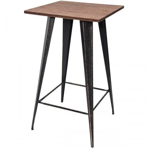 Барный стол без стульев, столы для пабов, барные столы высотой 40 дюймов, винтажный стол для бистро, металлический прямоугольный
