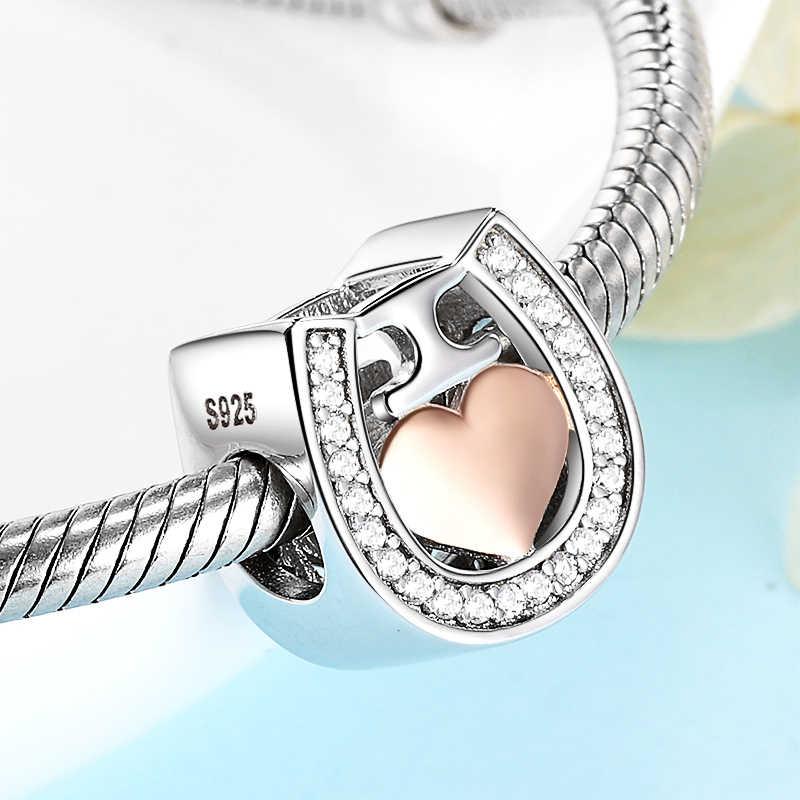 Reflections Charm Bracelet Handmade 925 Sterling Silver Shine Rose