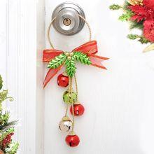 Рождественский колокольчик Украшение подвесное украшение подвеска колокольчик украшение для подвешивания на двери Рождественская елка Красочный колокольчик Декор