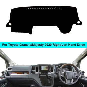 Dla Toyota Granvia Majesty 2020 RHD LHD wnętrze deska rozdzielcza samochodu pokrywa parasolka poduszki dekoracji samochodu mata na deskę rozdzielczą dywan poduszki Cape tanie i dobre opinie ZJZKZR Włókien syntetycznych Prawo steru For Toyota Granvia 2020 For Toyota Majesty 2020