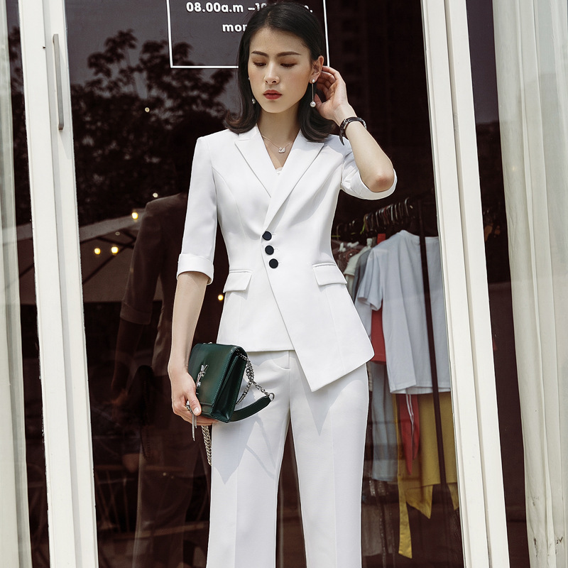 Hot Formal Elegant Uniform Styles Blazers Suits Two Piece with Tops and Skirt for Ladies Office Work Wear Jacket Sets Clothings