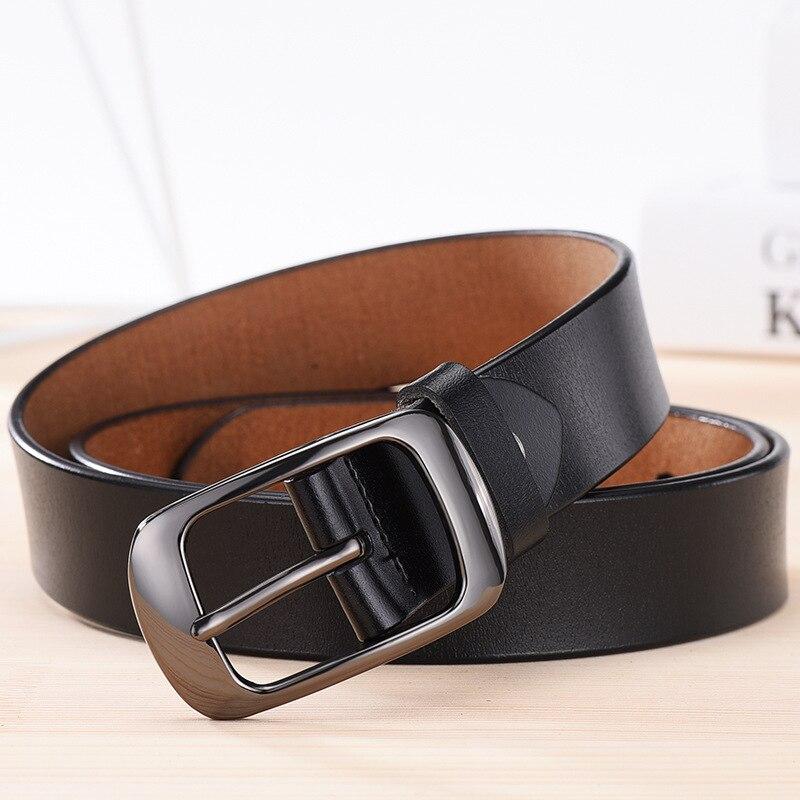 NO. ONEPAUL, женский ремень из натуральной кожи, модный, Ретро стиль, высокое качество, люксовый бренд, для девушек, металлическая двойная пряжка, ремень с джинсами - Цвет: RDD black