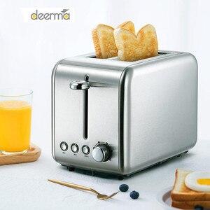 Máquina para hornear pan Deerma tostadora eléctrica automática para el hogar para el desayuno emparedado tostado, máquina para recalentar el horno de la parrilla de la cocina