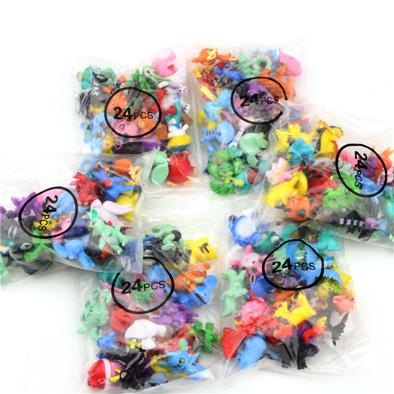 2.5cm-3cm POKEMON Figures 144 Different Styles 24pieces/bag New Dolls Action Figure Toys For Carta Pokemones Collectible Dolls