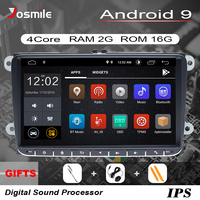 2 Din Android 9 Car radio GPS Navigation For VW Passat B6 amarok volkswagen Skoda Octavia 2 superb Jetta T5 golf 5 6 Multimedia
