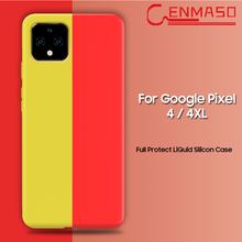Capa for Google Pixel 4 Case Ultra Thin Pure Soft Liquid Silicon Cover 4XL XL Full Shockproof Funda