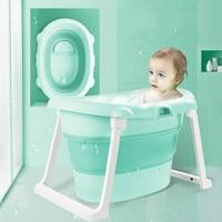 Children Bathing Barrel Bath Folding Bucket Baby Bath Tub Child Insulation Baby Super Deep Bath Tub Baby Products Swimming Pool