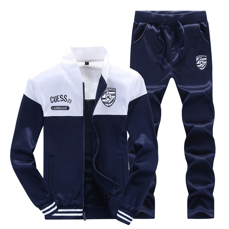 2019 Brand Hot Sale New Men Sets Fashion Autumn Spring Sporting Suit Sweatshirt +Sweatpants Mens Clothing 2 Pieces Running Suit