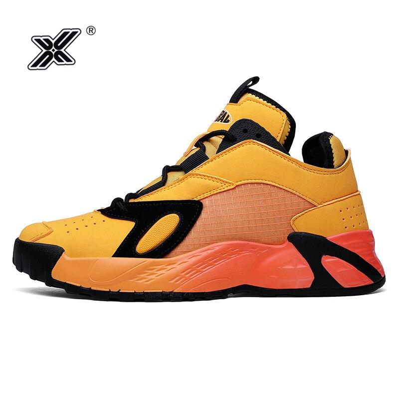 Бренд X, модные оранжевые сверхлегкие мужские кроссовки на платформе, спортивная обувь, дышащая сетка, мужские кроссовки, повседневная обув...
