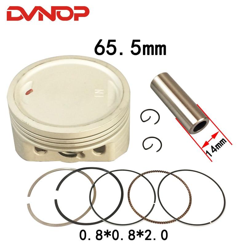 Conjunto de junta de anel de 65.5mm, peças modificadas de cbf150 xr150 com pino 14mm, para motocicleta cbf200 xr200
