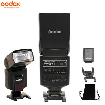 Godox Thinklite lampa błyskowa TT520II z wbudowanym sygnałem bezprzewodowym 433MHz do lustrzanki cyfrowe Canon Nikon Pentax Sony Fuji Olympus tanie i dobre opinie Lumix FUJIFILM SAMSUNG CN (pochodzenie) TT520 II 310g 190x75x55mm 4xAA Batteries 5600 plusmn 200K Flash light