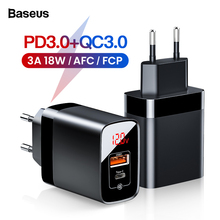Baseus Quick Charge 3.0 Dual USB Charger For iPhone 11 Pro M