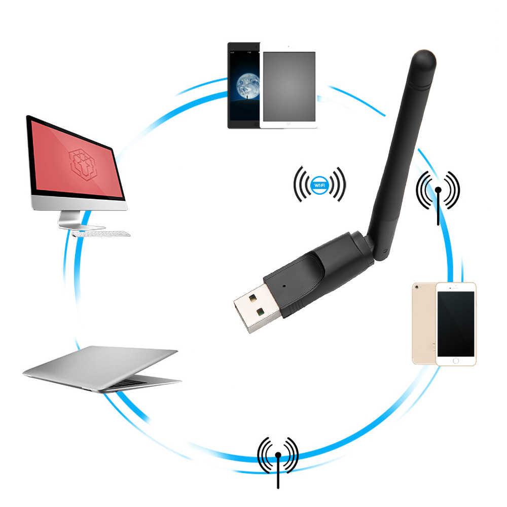 Kebidu מיני WIFI USB מתאם MT7601 150Mbps USB 2.0 WiFi אלחוטי רשת כרטיס 802.11 b/g/n LAN מתאם עם אנטנת rotatable