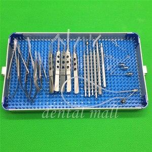 Image 2 - 21 sztuk/zestaw okulistyczna zaćmy oka mikro chirurgia instrumenty chirurgiczne z pudełkiem