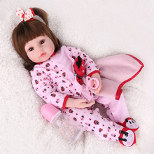 45/55cm baby dolls toys for girls bebes reborn silicone and cotton Doll Simulation curly doll alive newborn toys doll kids gift ucanaan 55cm 22 vinyl doll reborn soft silicone toys for girls handmade newborn baby alive dolls for children chirstmas gifts