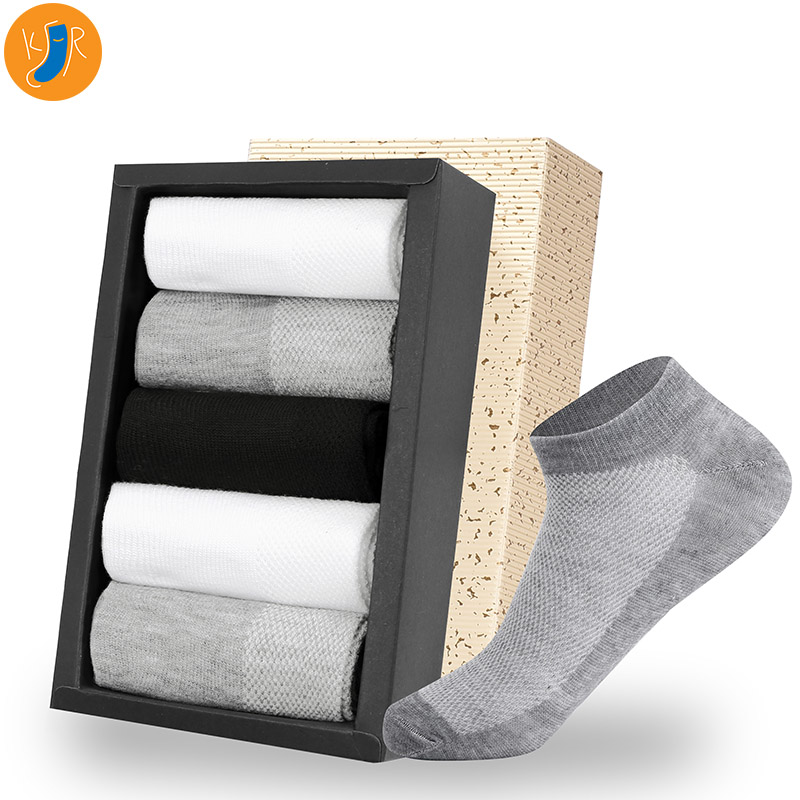 20Pcs=10pairs Men Socks Breathable Thin Ankle Socks Cotton Socks Short Man White Black Boat Socks Size EUR 38-42 Lot With Bag