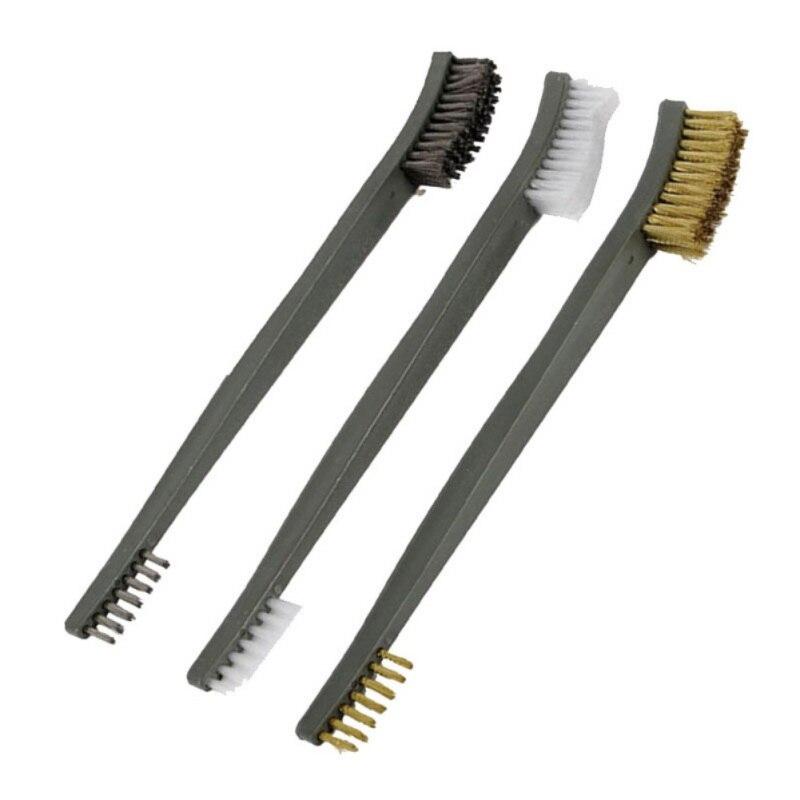18 Pcs Mini Stainless Steel Brass Nylon Wire Brush Set Cleaning Detailing Polish