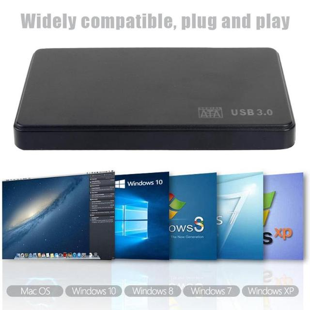 2.5 inch HDD SSD Case Sata to USB 3.0 2.0 Adapter Free 5 6 Gbps Box Hard Drive Enclosure Support 2TB HDD Disk For WIndows Mac OS 3