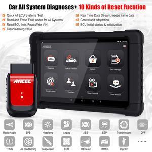 Image 2 - OBD2 автомобильный сканер ABS EPB DPF SAS подушка безопасности сброс масла Топливная форсунка полная система автомобильный диагностический инструмент Bluetooth OBD2 ANCEL X6