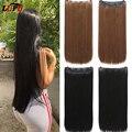 Искусственные волосы LUPU, длинные прямые синтетические накладные волосы на 5 клипсах, синтетические Высокопрочное волокно для женщин